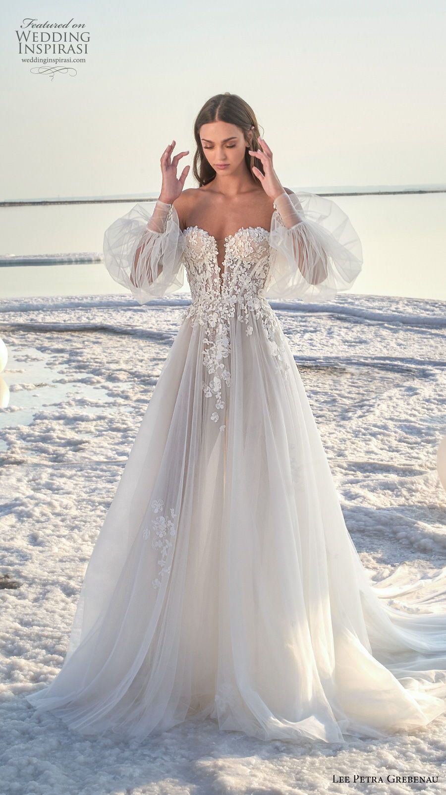 Lee Petra Grebenau 2020 Wedding Dresses Fields Of Pearls Bridal Collection Wedding Inspirasi Summer Wedding Dress Lace Beach Wedding Dress Wedding Dresses [ 1604 x 900 Pixel ]