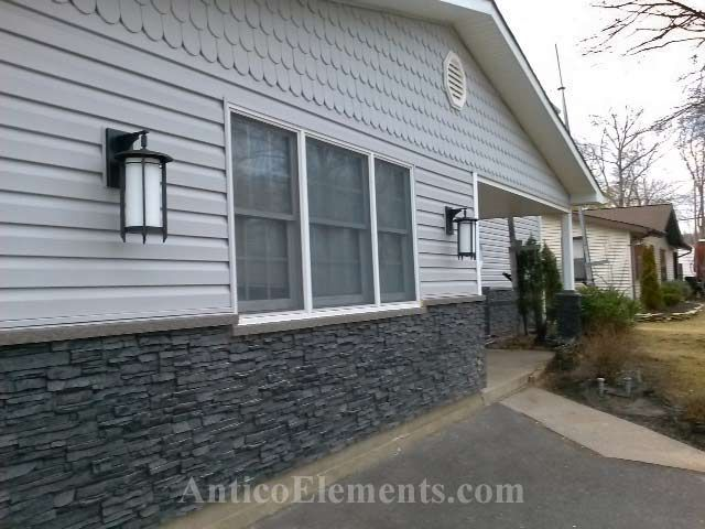 Stone Siding Stacked Panels But Want