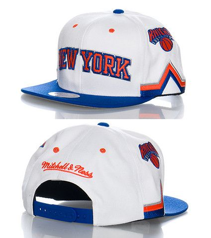 half off 4eb82 39485 MITCHELL AND NESS New York Knicks snapback cap Basketball NBA Adjustable  strap on back for comfort Embroidered logo on front MITCHELL AND NESS  stitching