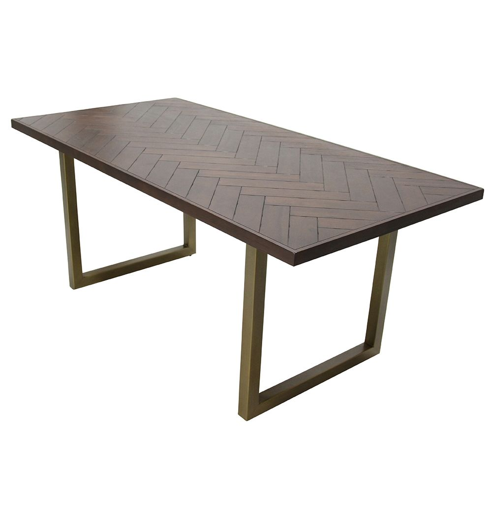 Camari Herringbone Dining Table - Matt Blatt | f u r n i t u r e ...