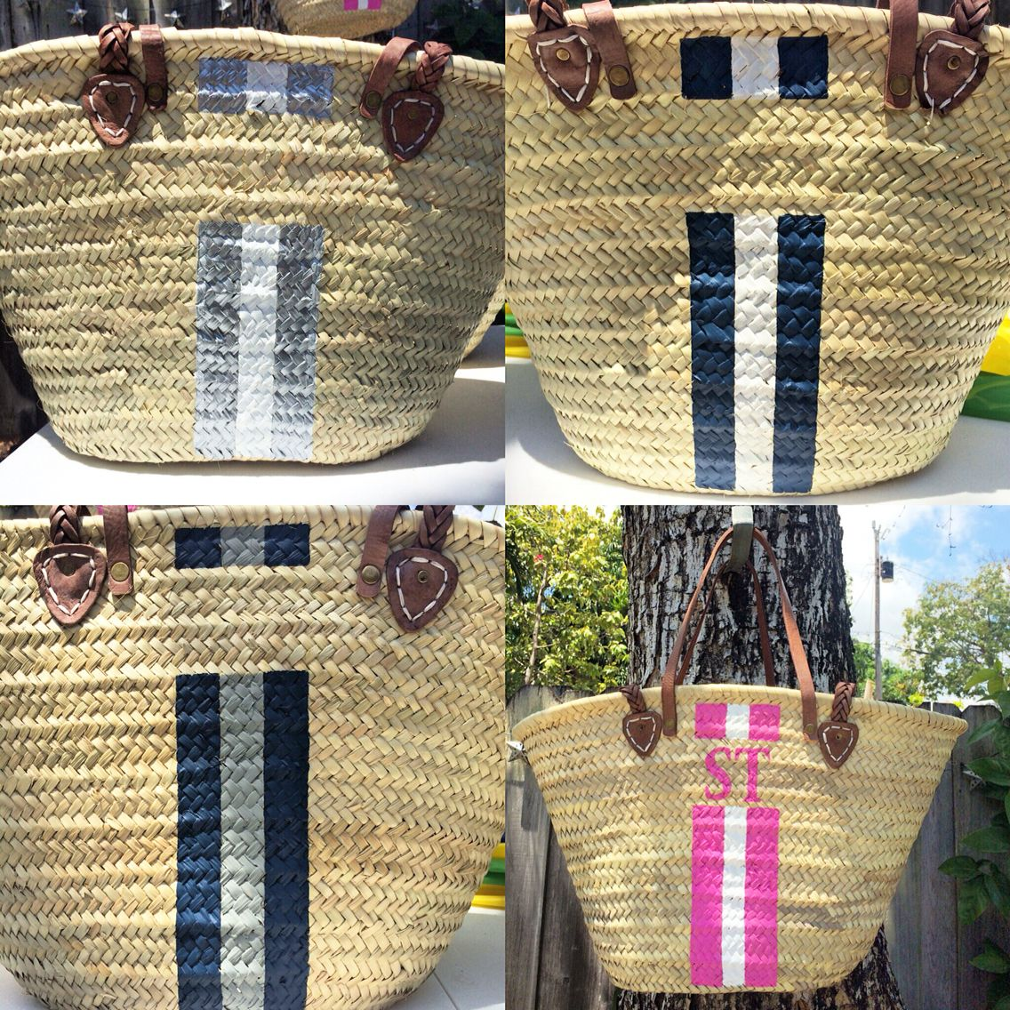 Getting ready more orders of these chic hand woven hand painted ...
