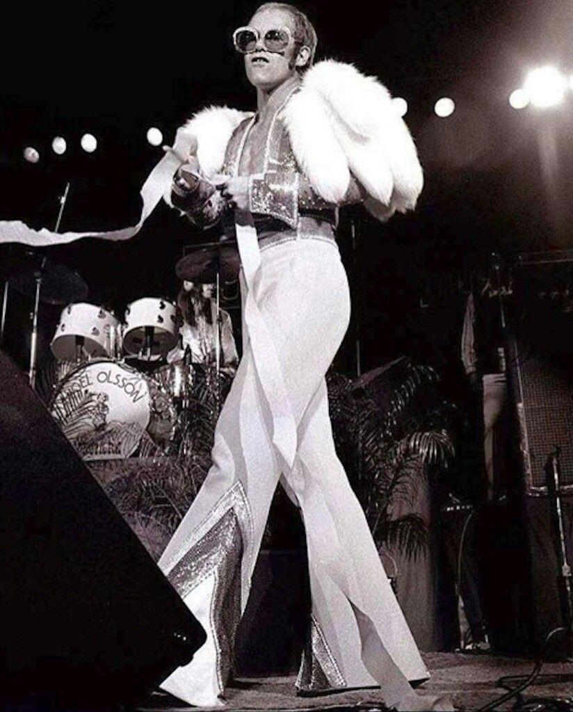 Elton and his gorgeous long legs