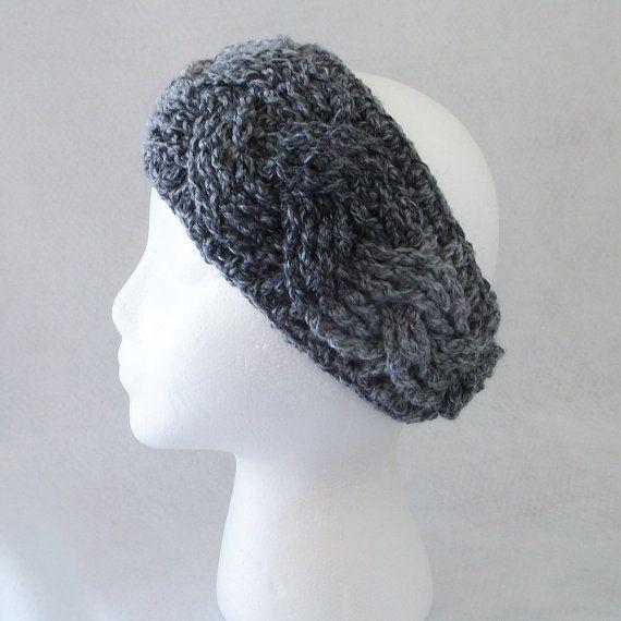 Crocheted Braided Look Headbandear Warmer In Marble Ear Warmers