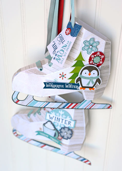 Paper Ice Skates Home Decorgift Wrap Project By Jana Eubank With