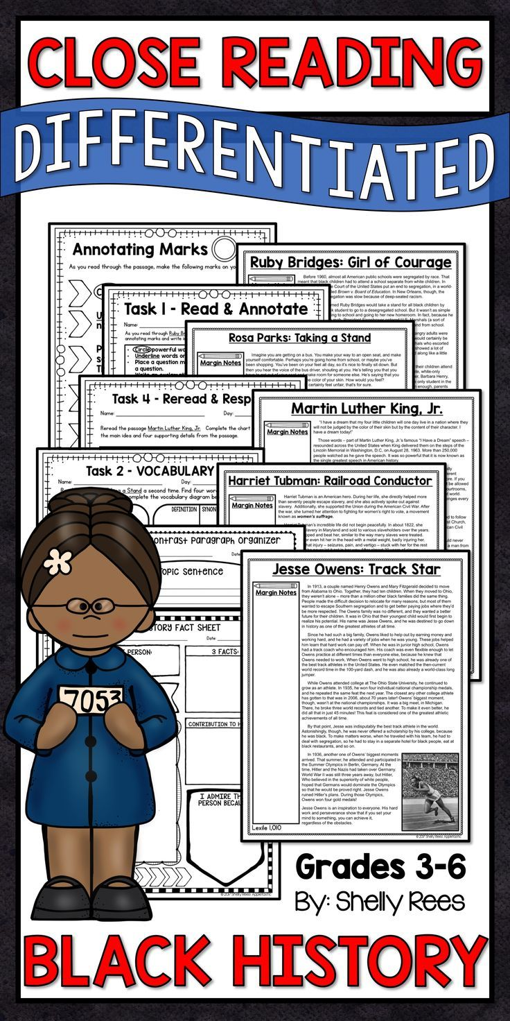 Black History Month Reading Comprehension And Activities Printable And Digital Black History Month Reading Differentiated Reading Passages Differentiated Reading [ 1472 x 736 Pixel ]