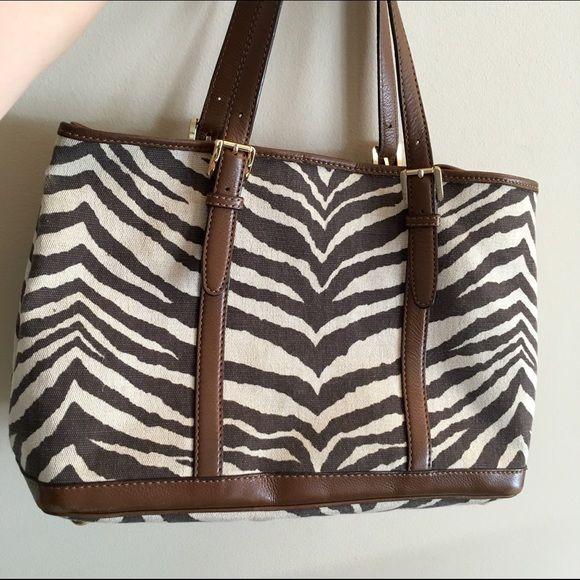 Michael kors zebra tiger canvas tote Michael Kors canvas bag