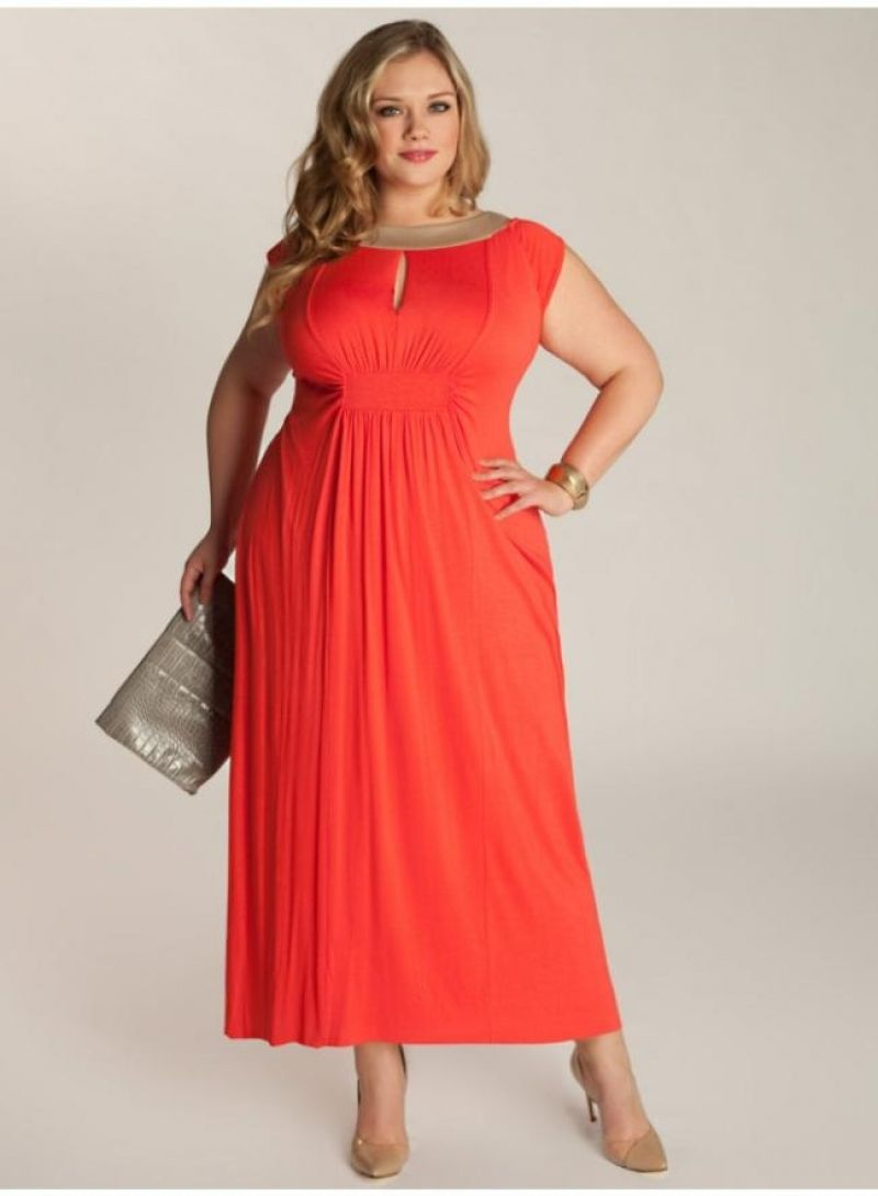 Great Plus Size Coral Dress For Wedding | Wedding Dresses ...