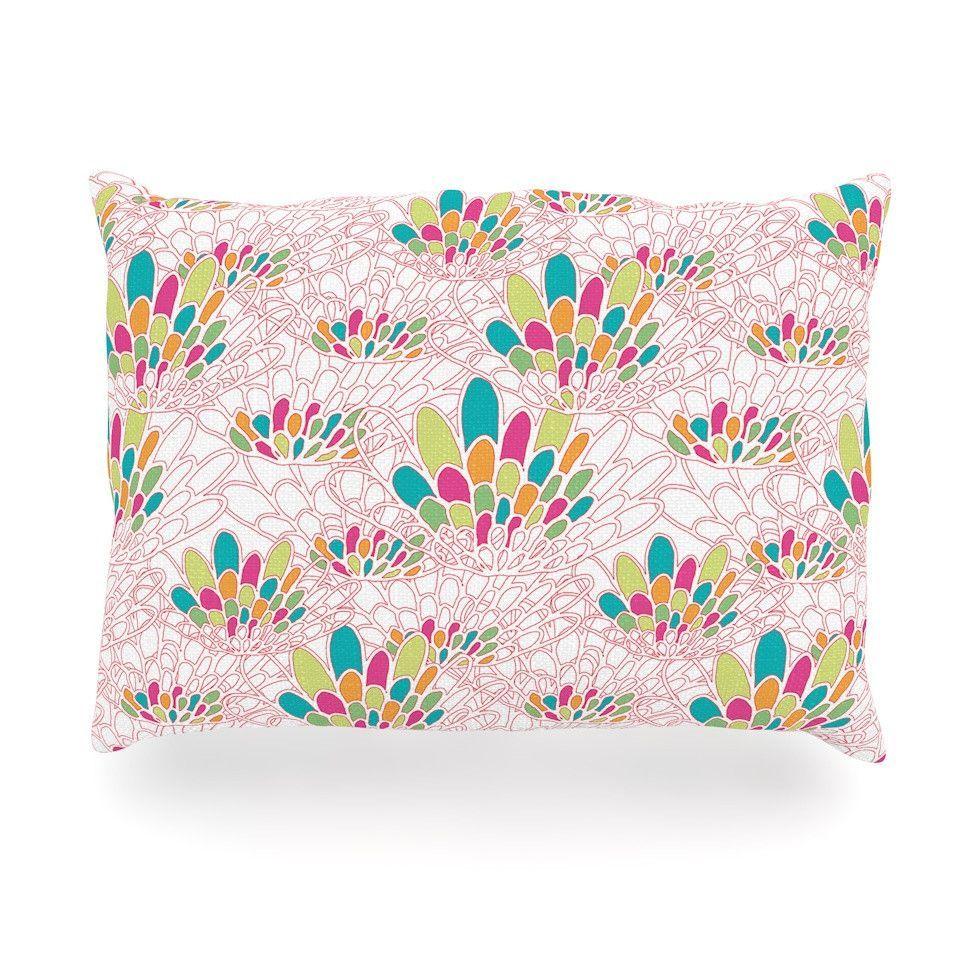 """Miranda Mol """"Blown Away"""" Pink Multicolor Outdoor Throw Pillow"""