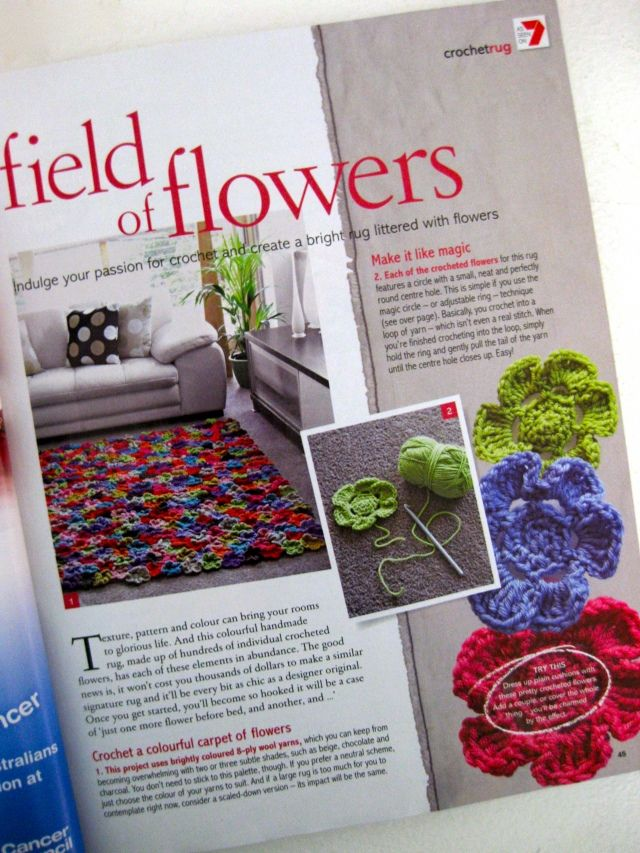 Field Of Crocheted Flowers Fields Afghans And Crochet