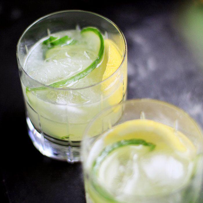 drink med ingefära och gin