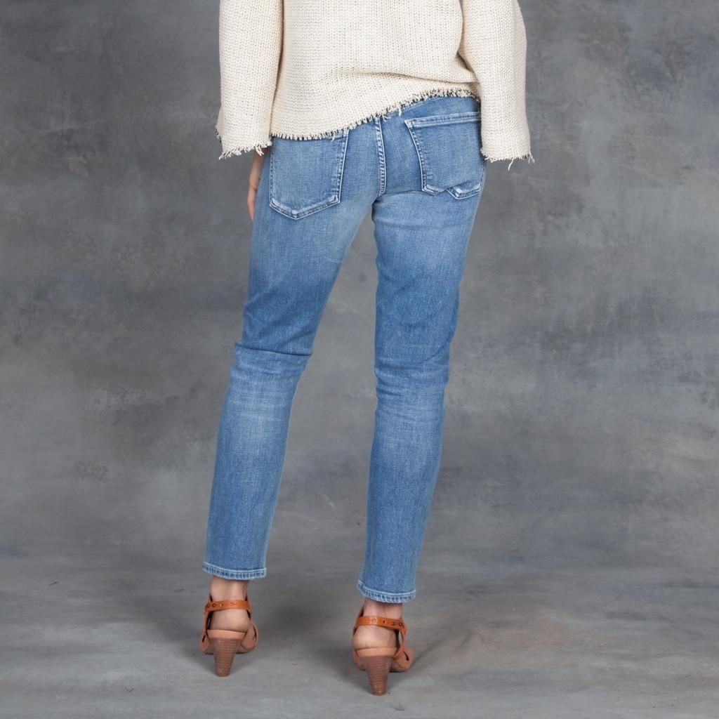 ed761f3d3a22 The Slim mid-rise Elsa jeans have a tomboy feel. They re relaxed but also  slim and fitted