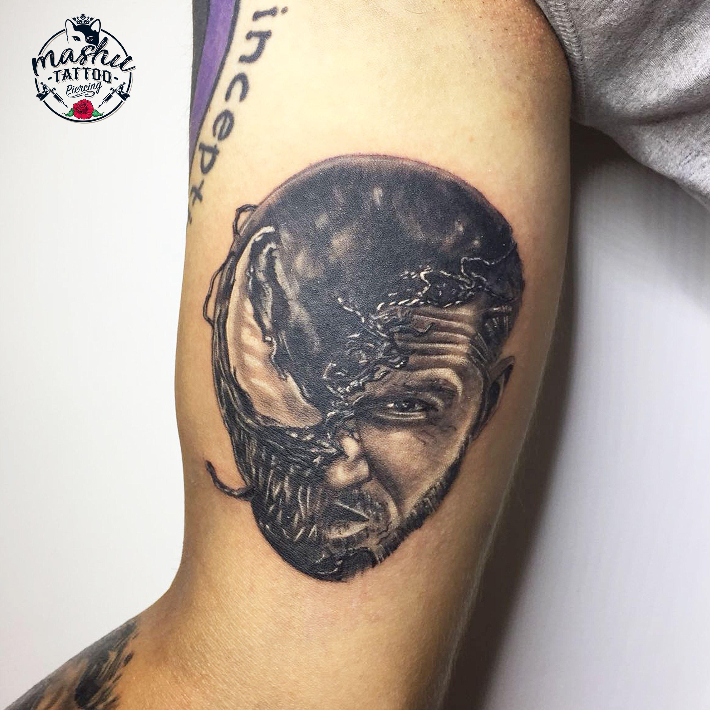 Venom • Tom Hardy • tattoo • Venom Tom Hardy dövmesi