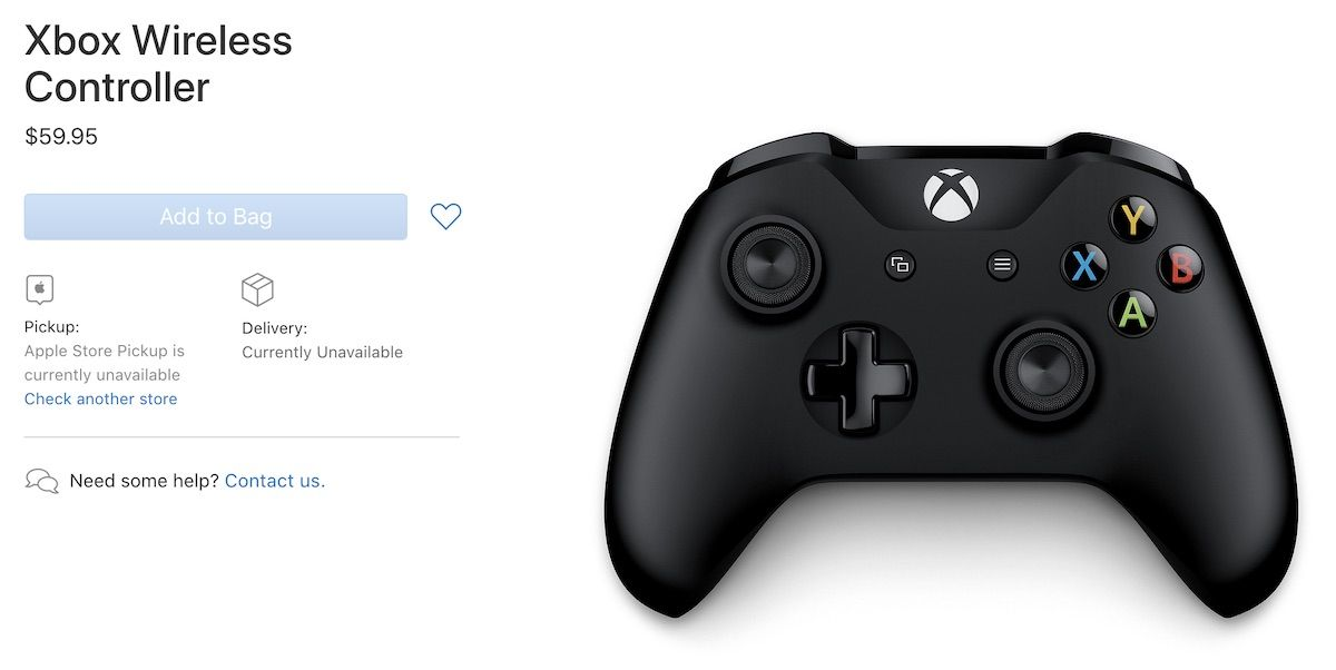 Apple Adds Microsoft's Xbox Wireless Controller to its