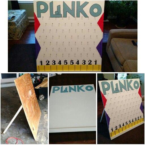 Diy Price Is Right Plinko Board For Kids Birthday Party