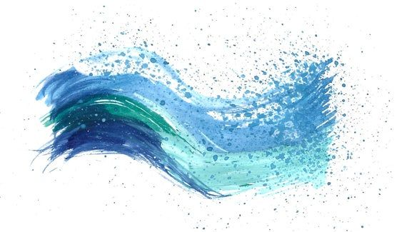 Waves Watercolor Ocean Waves Sea Waves Png Clipart Waves Aquarell