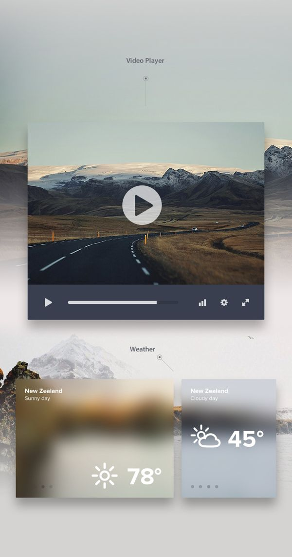 UI KIT DARK by CreativeDash Design Studio, via Behance
