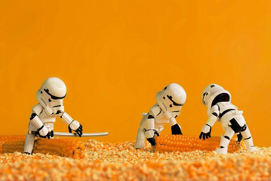 Miniature Star Wars Adventures By Zahir Batin #Miniature, #StarWars