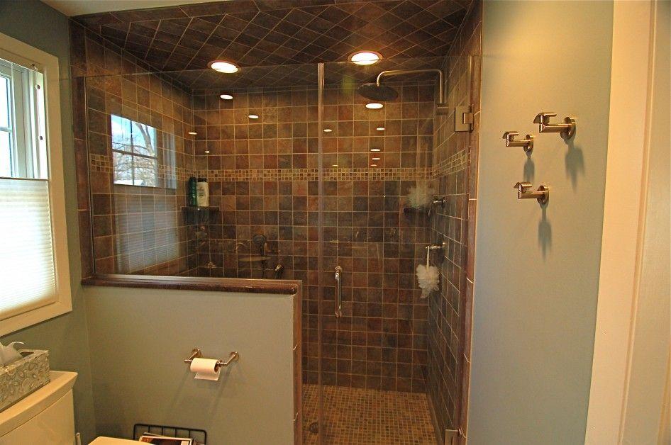 walk in tile shower ideas | Walk in Shower Lighting Ideas ...