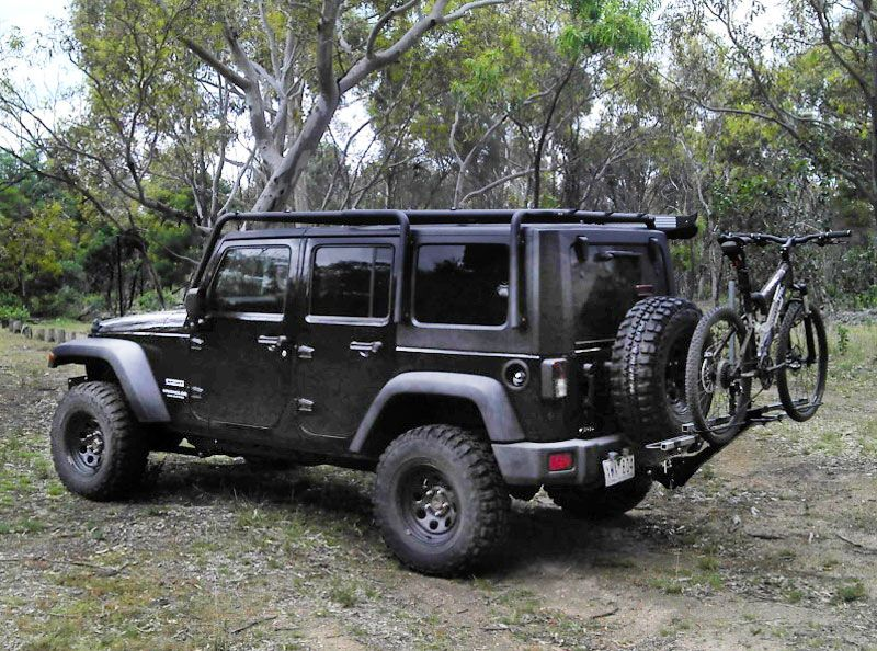 Jk Jeep Wrangler Bike Carrier Raised Jeep Wrangler Jeep
