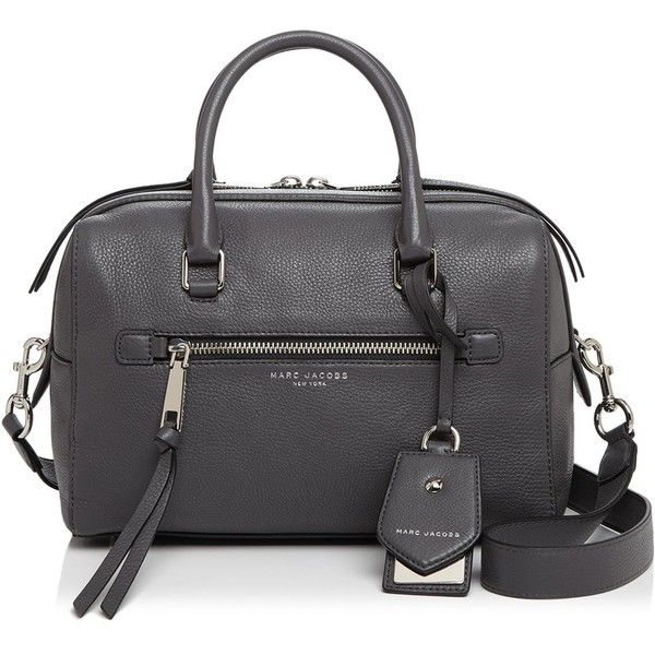 Marc Jacobs Recruit Bauletto Satchel ($530) ❤ liked on Polyvore featuring bags, handbags, satchel purses, leather satchel purse, marc jacobs purse, leather satchel and leather purses