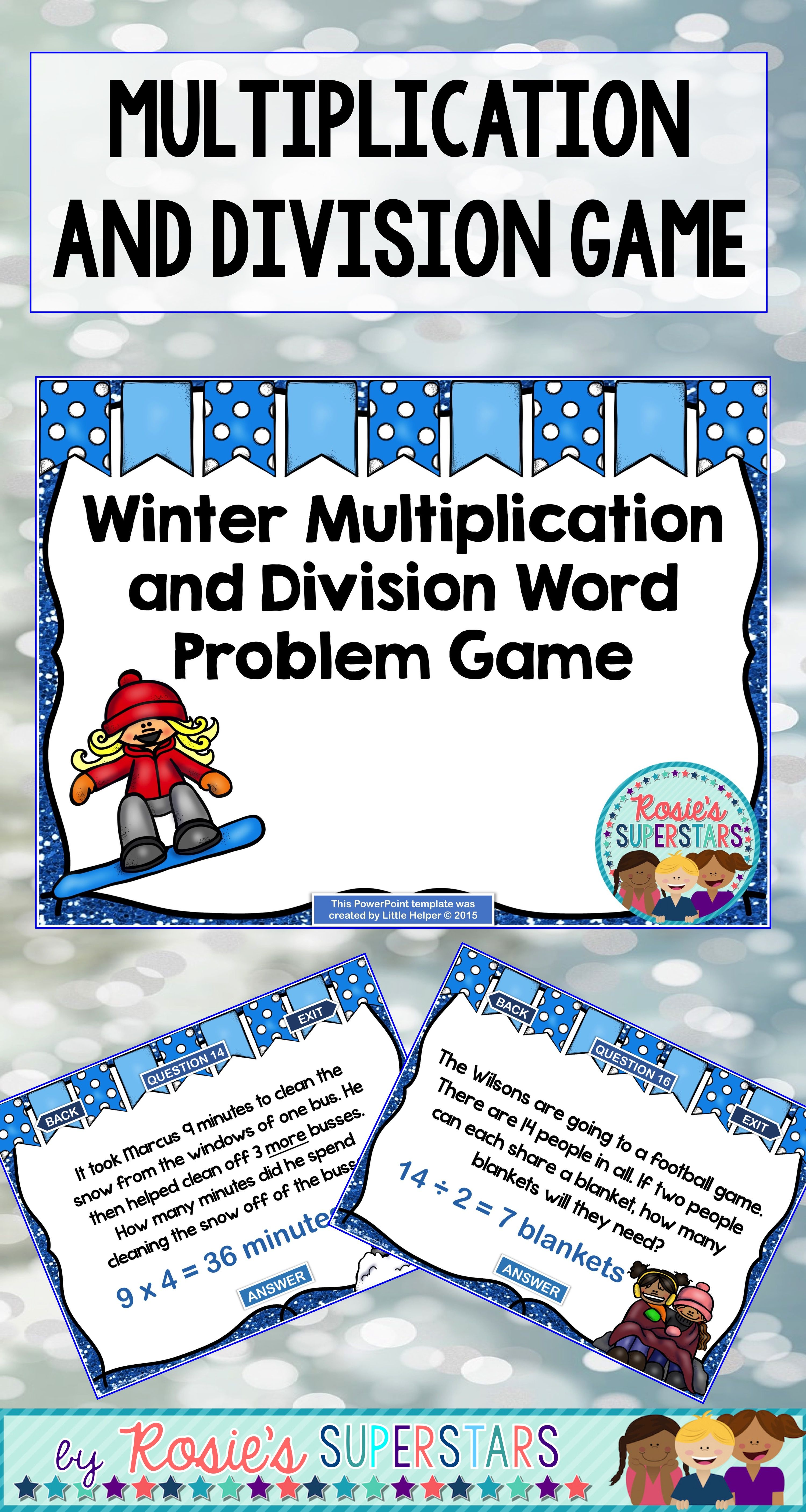 Multiplication And Division Word Problem Powerpoint Game