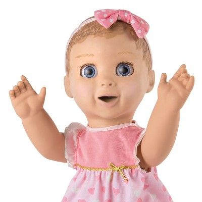 Luvabella Brunette Hair Interactive Baby Girl Doll Expressions//Movement NIB