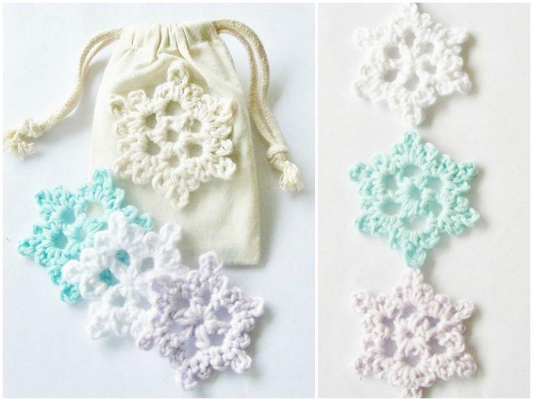Easy Crochet Snowflake Free Pattern   Crochet jewelry ...