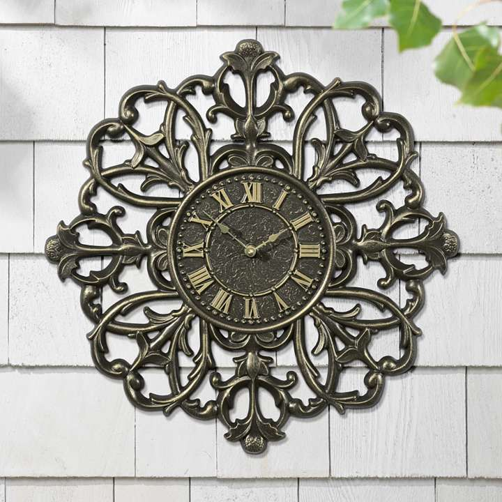 Medallion Outdoor Clock And Thermometer Outdoor Living Pinterest