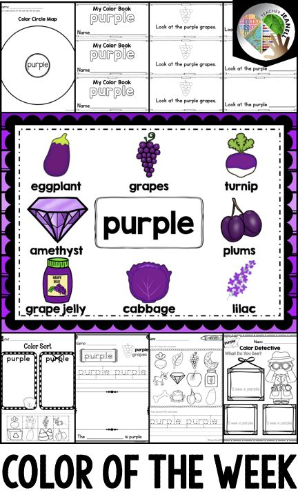 color purple activities collaborative kindergarten teaching colors kindergarten activities. Black Bedroom Furniture Sets. Home Design Ideas