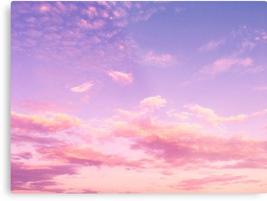 'Beautiful Lavender & Pink Clouds ' Metal Print by newburyboutique