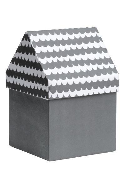 Caja de almacenaje caja de almacenamiento de cart n tapa estampada con forma de tejado - Cajas almacenaje decorativas ...