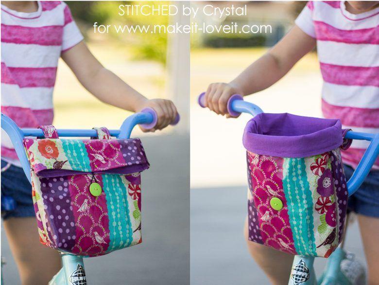 Sew A Handlebar Bag For Your Kid S Bike Make It And Love It Kidsbikes Bike Bag Pattern Bicycle Bag Pattern Handlebar Bag