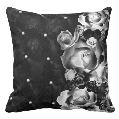 Dozen Roses Throw Pillow dorm decor t ideas presents diy