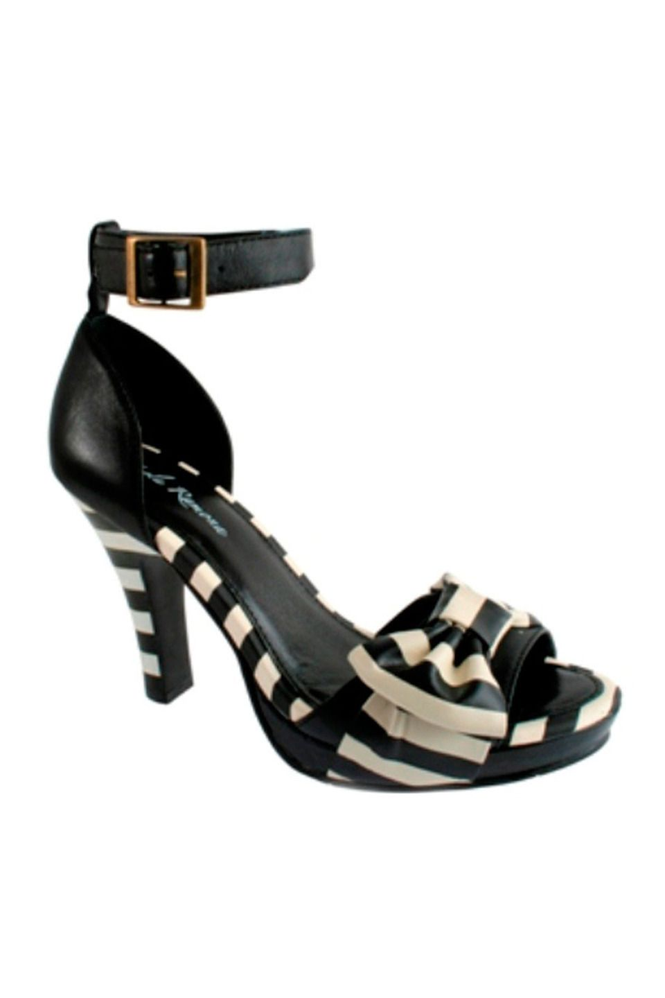9b5a04096848 Lola Ramona Angie Sandal with Ankle Strap in Black and White