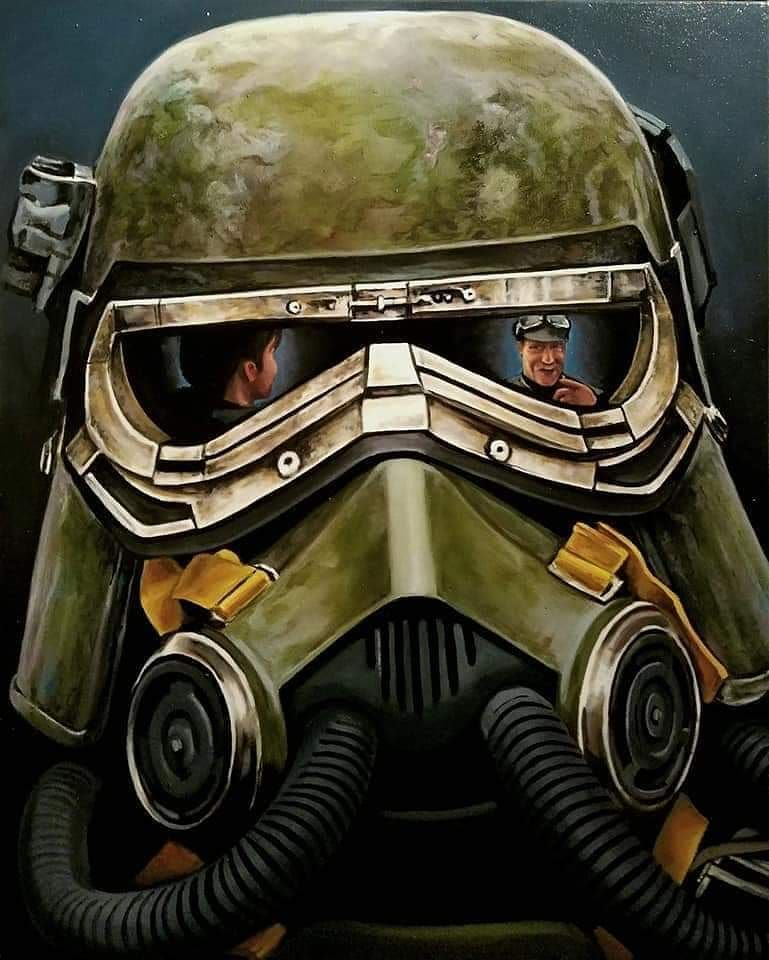 Star Wars Mudtrooper Oil Painting Reflection Series By Christian Waggoner Christianwaggonerartist Sta Star Wars Awesome Star Wars Poster Star Wars Trooper