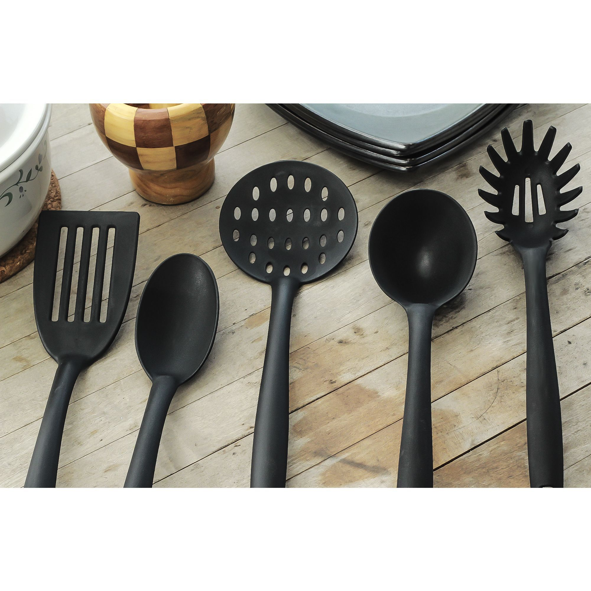 silicone 5 piece essential kitchen tools set cooking tools