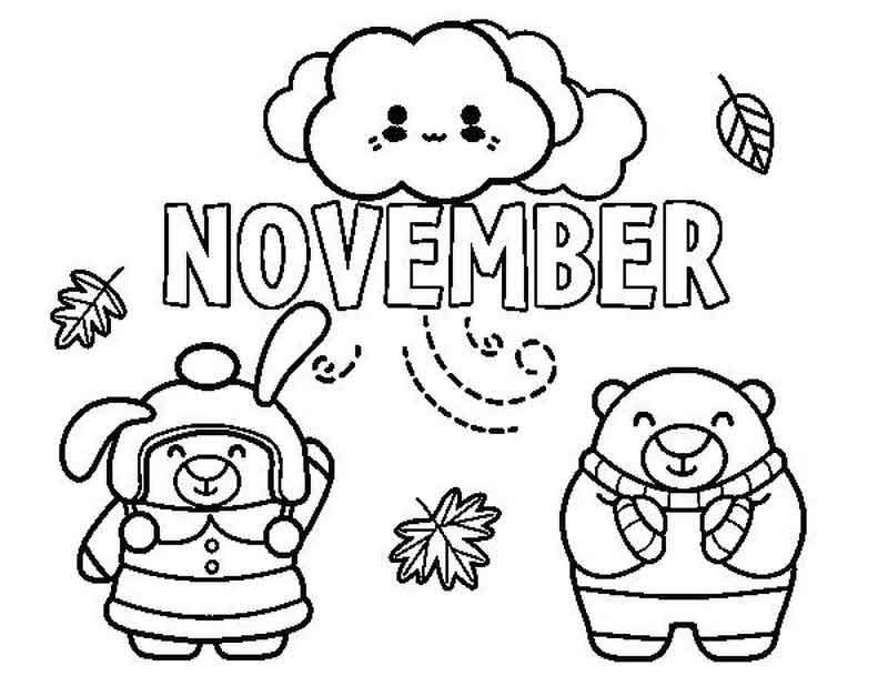 November Coloring Page Coloring Pages For Kids Coloring Pages Free Coloring Pages