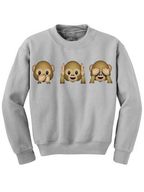 Animal Print Grey Sweatshirt 12.00