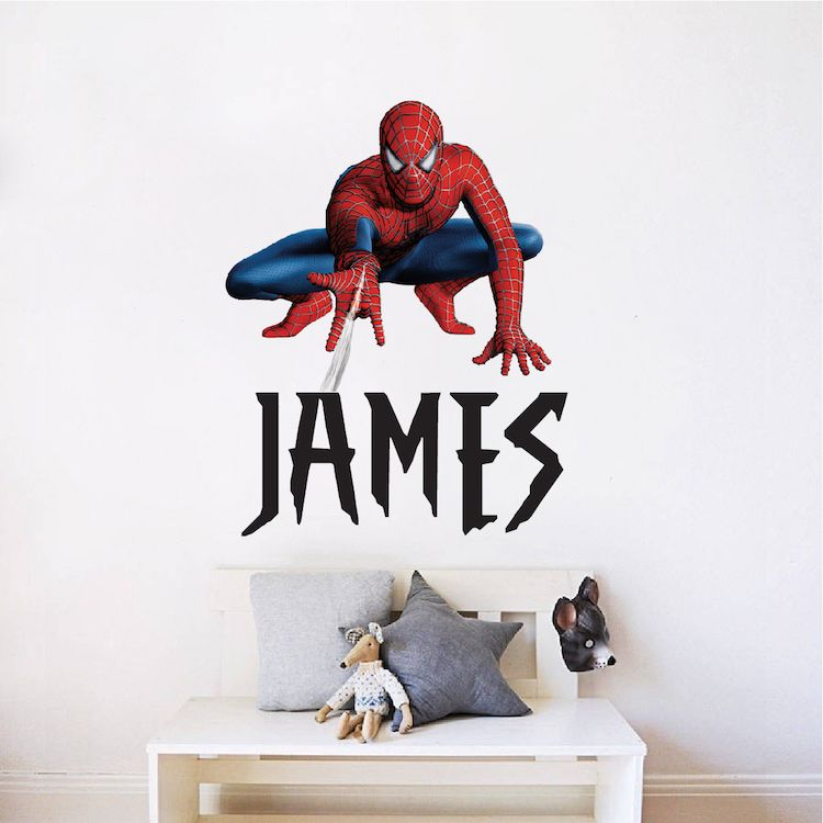 Custom Spiderman Font Name _ Superhero Name Bedroom Decals _ Spider ...