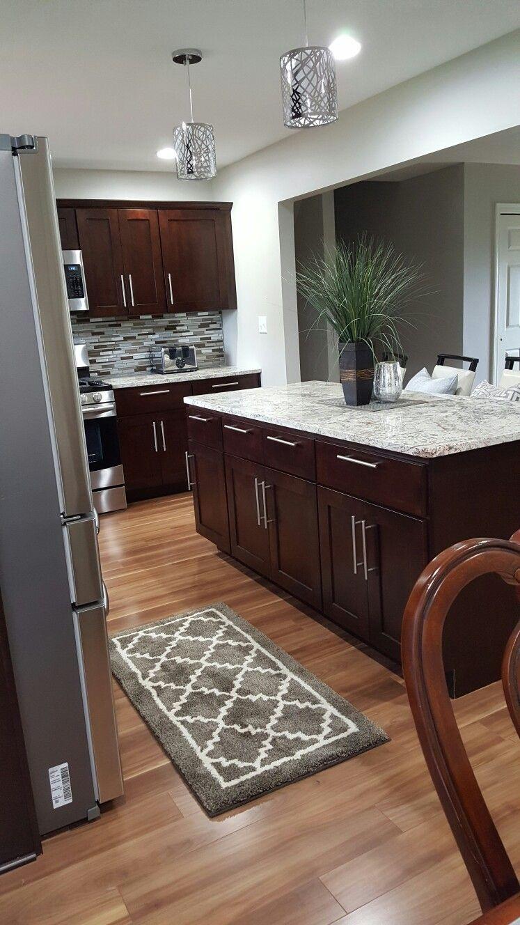 Small kitchen cherrywood   Kitchen remodel small, Home kitchens ...