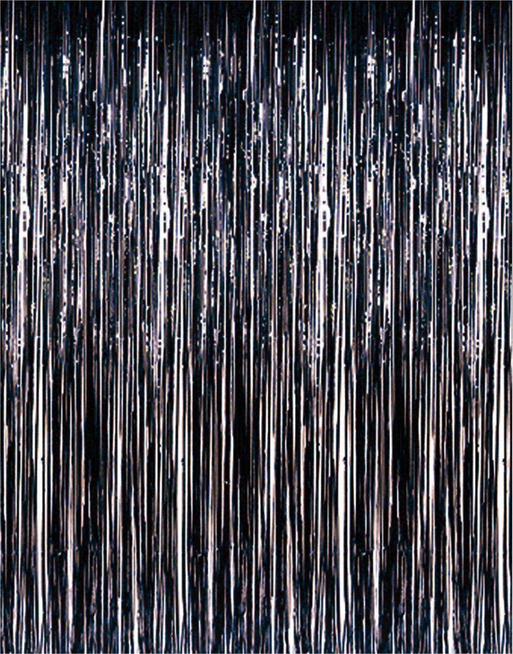 Details About Metallic Black Tinsel Foil Fringe Curtain Photo
