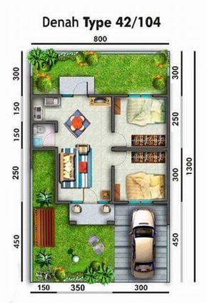 Rumah Minimalis Ukuran 7x10 Casas Pequenas E Simples Plantas De Casas Construcao De Casas