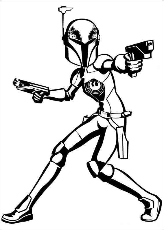 Star Wars Rebels Coloring Pages 1 | Sabine Wren | Pinterest | Star ...