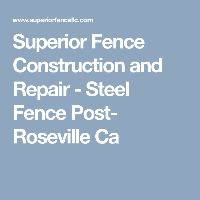 Superior Fence Construction And Repair Steel Fence Post