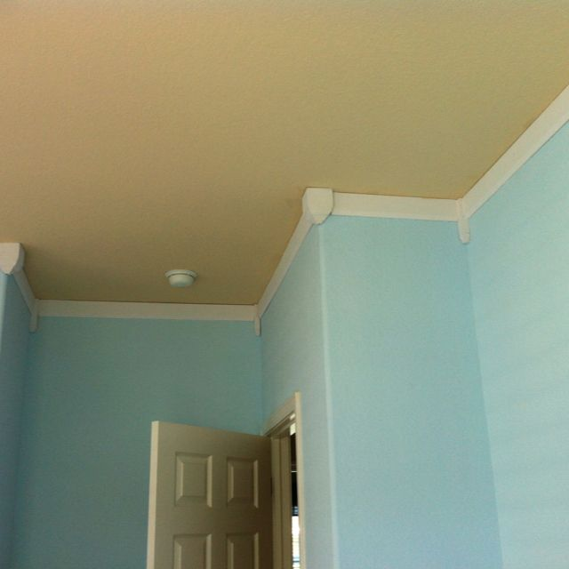 Faux Crown Molding (upsides Own Baseboard And Painted