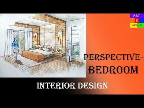 Manual Rendering   1 point Interior Design Perspective Drawing     Manual Rendering   1 point Interior Design Perspective Drawing   Rendering    Tutorial   Watercolour