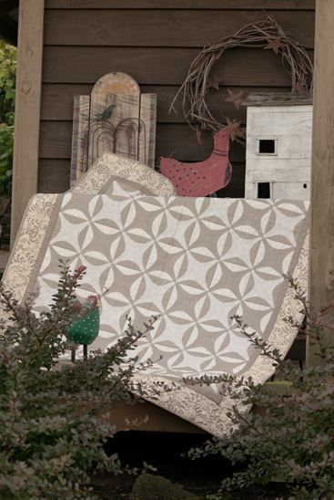 Farm Girl Quilt - love the beige and white - want to make a quilt using these colours