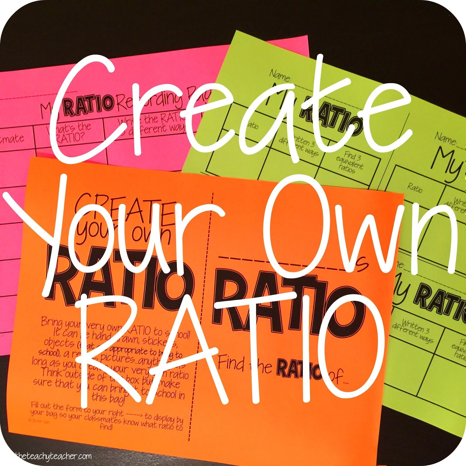 EASY whole group activity or stations with RATIOS. Students create their own ratios (objects, drawings) and bring them to school! Up on the blog. C…