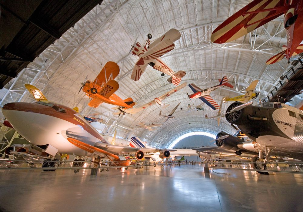 The National Air and Space Museum holds the world's largest collection of aircraft and spacecraft. To keep as many treasure on display, the Steven F. Udvar-Hazy Center in Chantilly, VA opened in 2003.