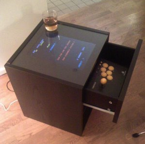 Turn your broken laptop into an arcade cocktail cabinet for Ikea cocktail table